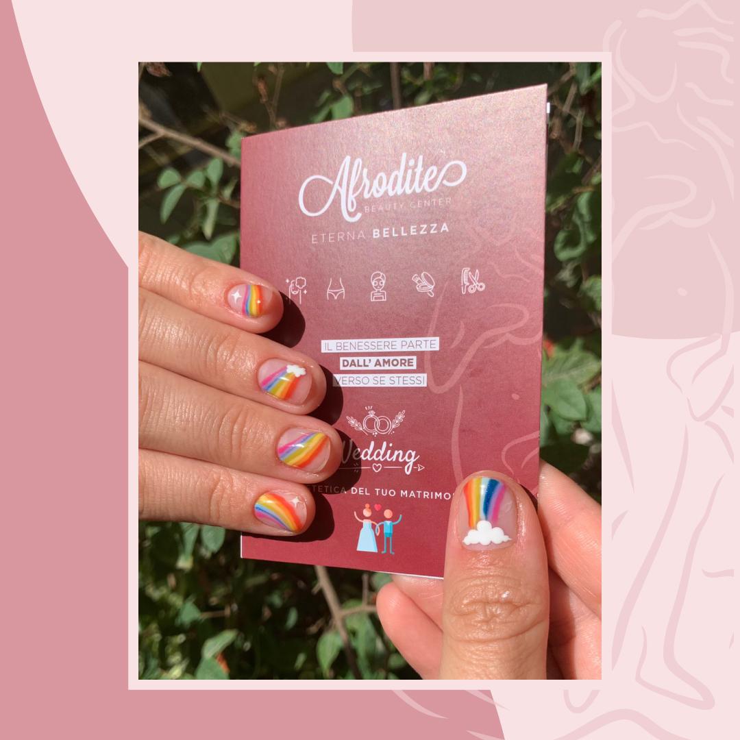 Nails Art Arcobaleno