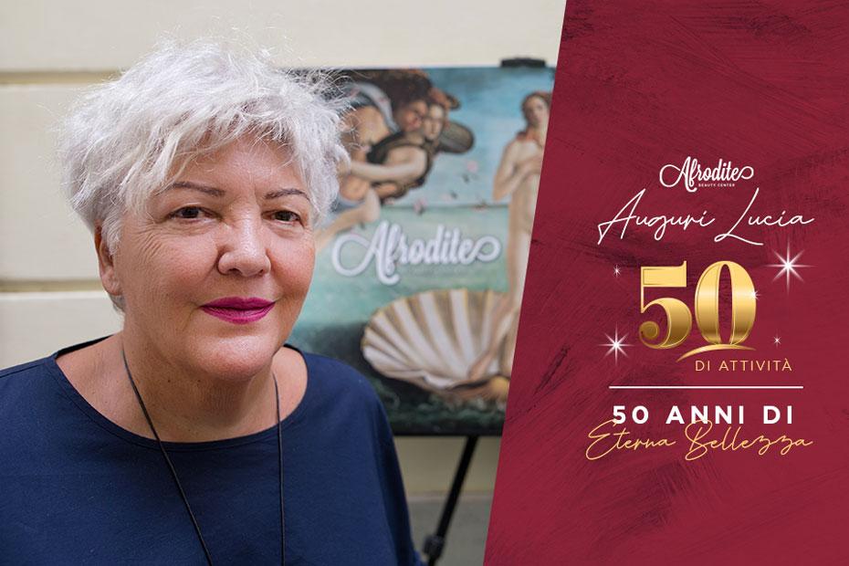 Lucia Calabrese, 50 anni di attività, 50 anni di eterna bellezza!