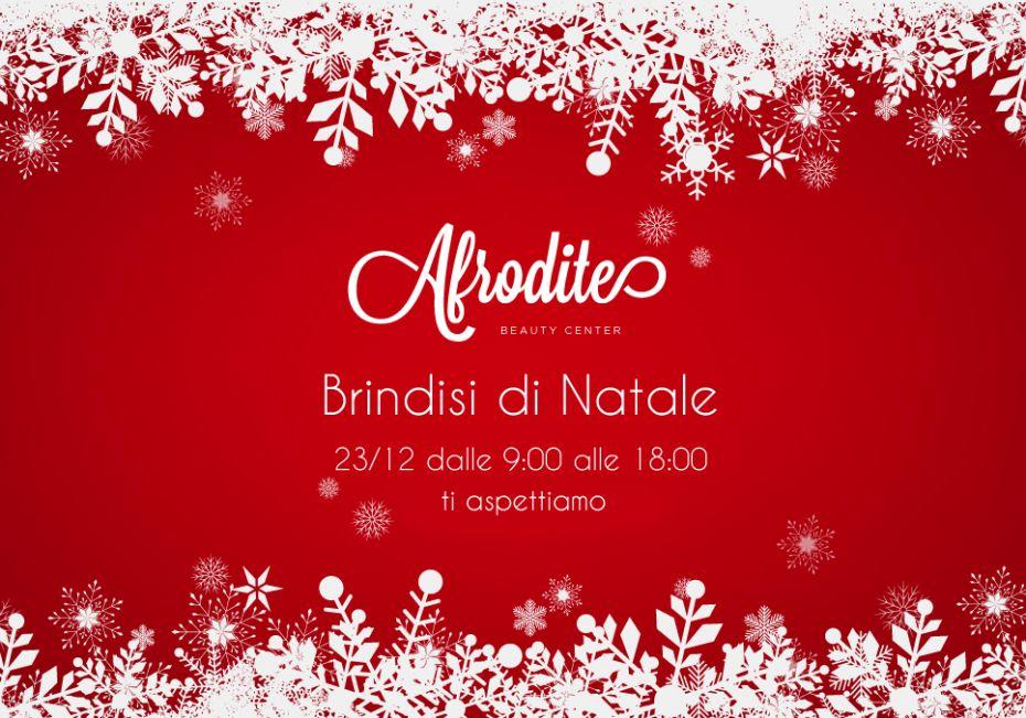 Brindisi natalizio da Afrodite, non mancare venerdì 23 dicembre