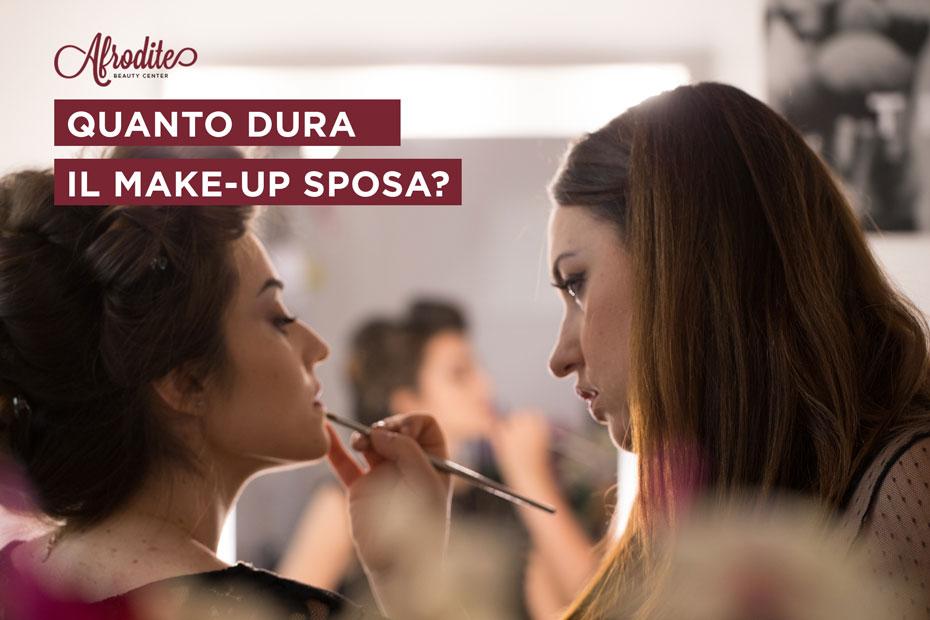 Quanto dura il make-up sposa?